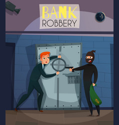 Bank robbery vector