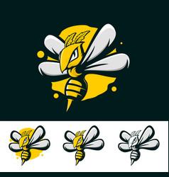 Bee strong abstract mascot vector