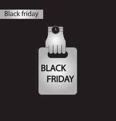 Black and white style icon package black friday vector