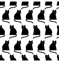 Black cats background vector image
