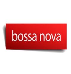 Bossa nova red paper sign isolated on white vector