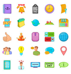 Call up icons set cartoon style vector