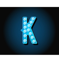 casino or broadway signs style neon light bulb vector image