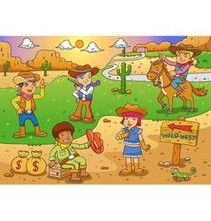 cawboy vector image