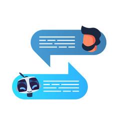Chatbot robot concept dialog help service vector
