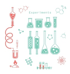 Chemical experiments vector