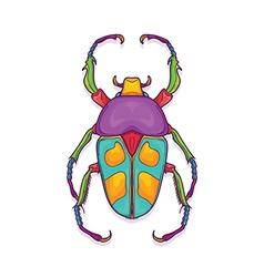 Colorful Beetle Bug Insect Jumnos ruckeri vector image