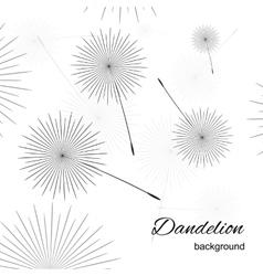 Dandelion thin line picture vector