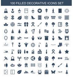 decorative icons vector image
