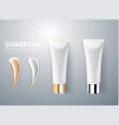 design of cosmetic packaging gray cream vector image