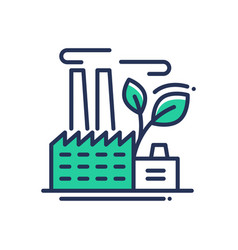 ecology- modern single line icon vector image