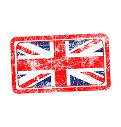 England flag red grunge rubber stamp vector