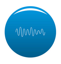 equalizer wave sound icon blue vector image