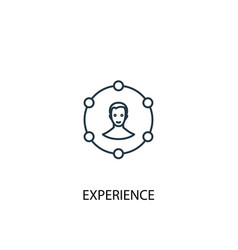 Experience concept line icon simple element vector