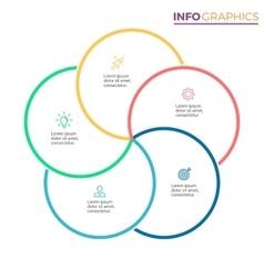 Five steps infographics design element vector