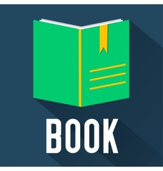 Flat book design concept vector