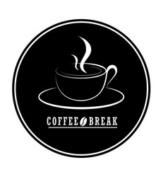 flat coffee logo designcoffee logo isolated on vector image