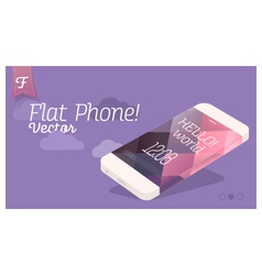 Flat phone design vector