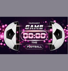 football banner or flyer design with 3d ball vector image