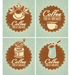 Fresh brewed coffee vector