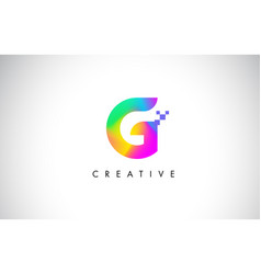 G colorful logo letter design creative rainbow vector