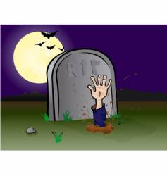Graveyard hand vector