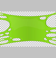 Green sticky slime banner with copy space vector