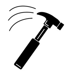 Hammer construction isolated icon vector