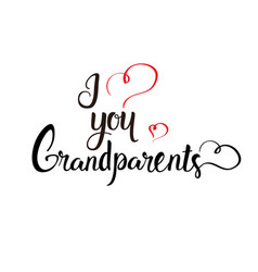 happy grandparents day greeting card banner text vector image