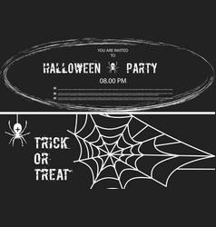 happy halloween banner set of design vector image