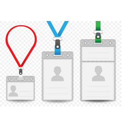 Horizontal and vertical badge template vector