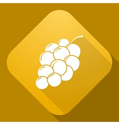 icon of Grapes with a long shadow vector image