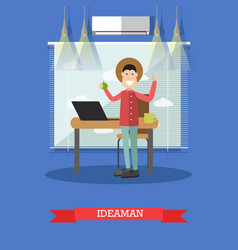 idea man concept in flat style vector image