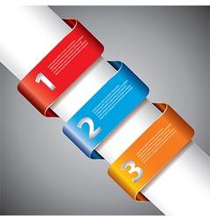 infographics ribbons diagonal vector image vector image