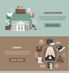 Legal system banners collection vector