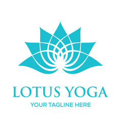 lotus yoga logo design vector image