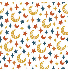 magical seamless pattern vector image