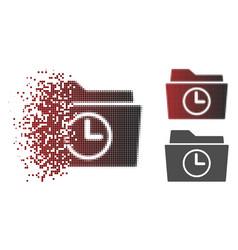 Moving dot halftone temporary folder icon vector