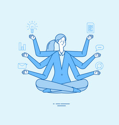 multitasking business woman office manager vector image