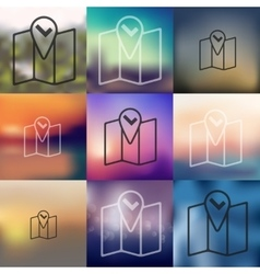 Navigator icon on blurred background vector