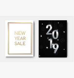 new year sales concept night flyers banner with vector image