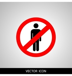 No people allowed No man sign isolated on white vector