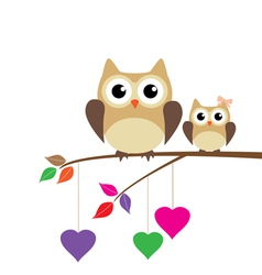 Owl mom vector