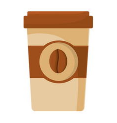 Paper cup coffee portable vector