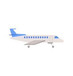 passenger airplane or airbus cartoon icon flat vector image