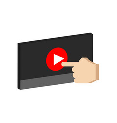 play video concept symbol flat isometric icon or vector image