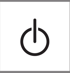 power icon flat icon power on off symbol vector image