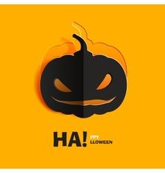 Pumpkin cut out of paper vector