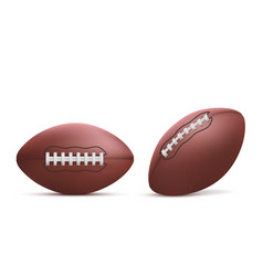 Rugby balls set isolated on white background vector
