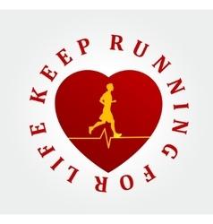 Running symbol vector image
